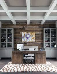 home office wood wall ideas reclaimed barn wood design with grey bookcases
