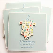 Baby Boy Card Stars New Baby Newborn Baby Suit Son