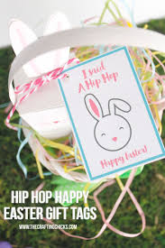 best diy crafts ideas hip hop happy easter gift tags give your friends a fun easter treat and attach