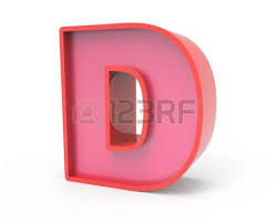 right leaning 3d rendering red building block letter d isolated white background toylike alphabet fo ver=6