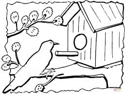 Small Picture Birdhouse coloring page Free Printable Coloring Pages