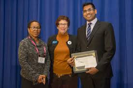 Michael Muthukrishna wins the      CGS ProQuest Distinguished     UBC Grad School   The University of British Columbia From left  Marlene Coles  ProQuest  Suzanne Ortega  CGS  and Michael Muthukrishna