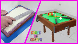 playable pool table cake how to