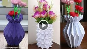 Flower Vase With Paper How To Make A Paper Flower Vase Paper Craft Tutorial Artsycraftsydad
