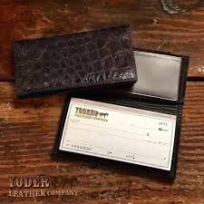 custom leather checkbook covers brown alligator handmade cover company tooled custom leather checkbook covers