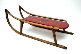 vintage wooden sled wood sled decoration antique painted sled south decoration original surface home ideas show