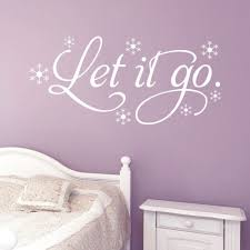 Small Picture Frozen Let it go Snow Wall decals home Decoration Quote Wall