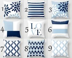 Blue And White Throw Pillow Covers