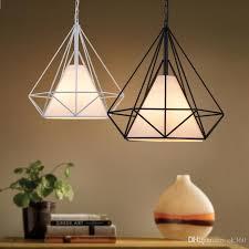 cage pendant lighting. Modern Scandinavian Minimalist Bird Cage Pendant Lamps Art Diamond Pyramid Lights Vintage Iron Black White Rustic Light Brushed Nickel Lighting