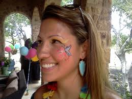 tropical erfly eye face paint erfly