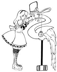 Small Picture Best of Alice in Wonderland Coloring Pages for Kids Womanmatecom