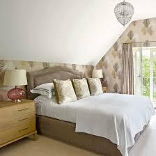 loft conversion furniture. loft conversion with floral gableend wallpaper furniture