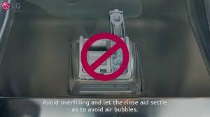 Bosch Dishwasher Salt Light Lg Dishwasher How To Use Rinse Aid