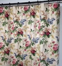 custom fabric shower curtain waverly emma39s garden jewel waverly shower curtains toile