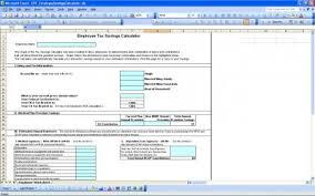 Tax Savings Calculator Excel Templates