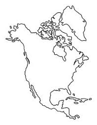Small Picture Blank map of North America Countries pdf Outline maps Pinterest