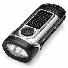 ThorFire Solar Power Hand Crank Waterproof Torch Light Portable Solar Powered Torch Lights