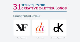 design letter 31 useful design techniques for creative two letter logos
