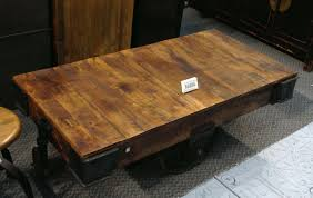 Iron And Stone Coffee Table Simple Antique Reclaimed Wood Coffee Table With Black Welded Iron