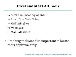 23 excel and matlab tools general non linear equations