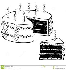 birthday cake slice drawing.  Drawing Birthday Cake Drawing To Cake Slice Drawing A
