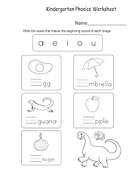 Students look at the pictures and circle the correct word. Kindergarten Phonics Best Coloring Pages For Kids