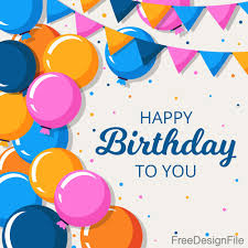 Birthday Background Happy Birthday Background With Hand Drawn Balloons Vector
