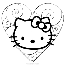 We have collected 38+ hello kitty valentines day coloring page images of various designs for you to color. Hello Kitty Valentines Day Coloring Pages With Heart Xcolorings Com