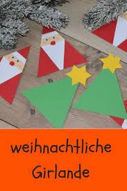 Mit Kindern Für Weihnachten Basteln Eine Süße Girlande Mit
