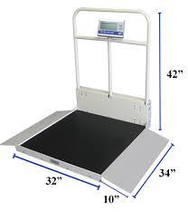 wheel chair scale. Folded Scale 38\ Wheel Chair
