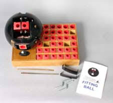 Bowling Ball Finger Pitch Chart Pro Shop Measuring Equipment