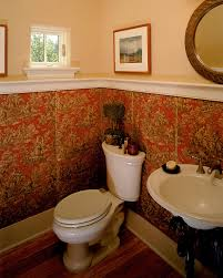 Wonderful Traditional Half Bathrooms With Art Guest Bath Image By Inside Modern Design
