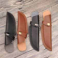 2019 straight blade sheath with opening above for belt knife holder leather cover camp outdoor tool holster case hunt carry scabbard pouch bag from