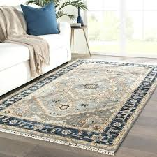 hand knotted medallion gray brown area rug 6 x8 rugs 6x8 foot