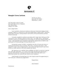 Sample Attorney Cover Letters Sample Cover Letters Syracuse University College Of Law