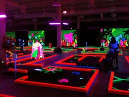 Cool Black Light Bedroom On Miniature Golf Range Using Fluorescent Paints  By Black Light World Black