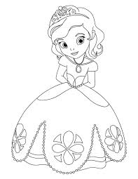 Small Picture Awesome Princess Sofia the First Coloring Page Coloring Kids
