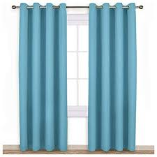 Window Curtains White and Turquoise: Amazon.com