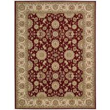 nourison persian crown suret red 9 ft x 13 ft area rug 178589 the home depot