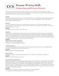Skills And Abilities Resume List Resume Online Builder