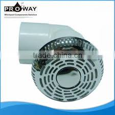 bathtub water circlation system part pvc stainless steel cover suction inlet