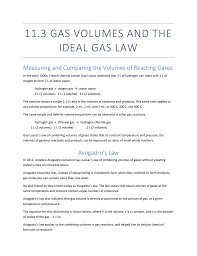 11 3 Gas Volumes And The Ideal Gas Law