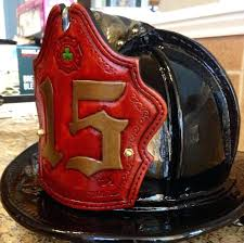 custom fire helmets helmet shields leather fronts
