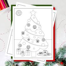 Free printable merry christmas decoration online colouring page for kids. Download These Free Christmas Tree Coloring Pages Kids Activities Blog