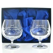 brandy glass set lead cut crystal brandy glass set personalised brandy glass set