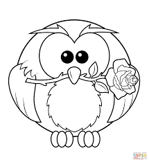 Small Picture Coloring Pages Owls glumme