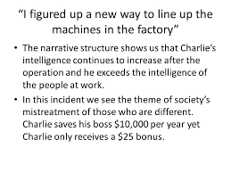 flowers for algernon rdquo ppt video online i figured up a new way to line up the machines in the factory