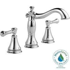 Bathroom Faucet Delta Cassidy 8 In Widespread 2 Handle Bathroom Faucet With Metal