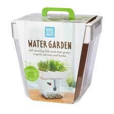 Self Cleaning Fish Tank Garden Back To The Roots 3 Gal Water Garden Tank 32000 The Home Depot
