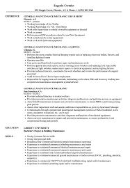 general maintenance resumes general maintenance mechanic resume samples velvet jobs